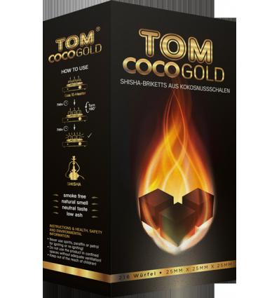 Kokosové uhlíky Tom Cococha Premium Gold 3 kg
